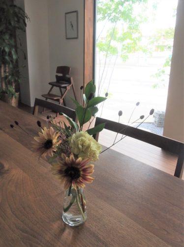 SUNRISEベース・モデルルームに飾る花