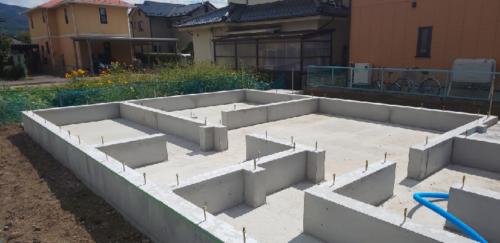 【現場レポート】塩尻市H様◇新築◇基礎工事完了!