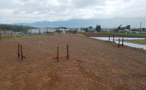 【ブログ】朝日村新築工事『丁張り』
